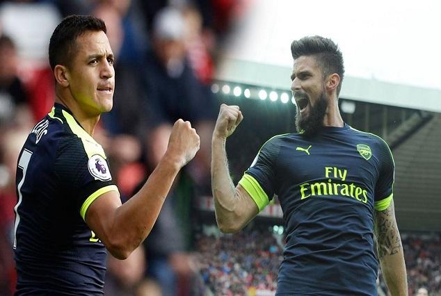 Sanchez And Giroud Goals Sink Sunderland Ship 1