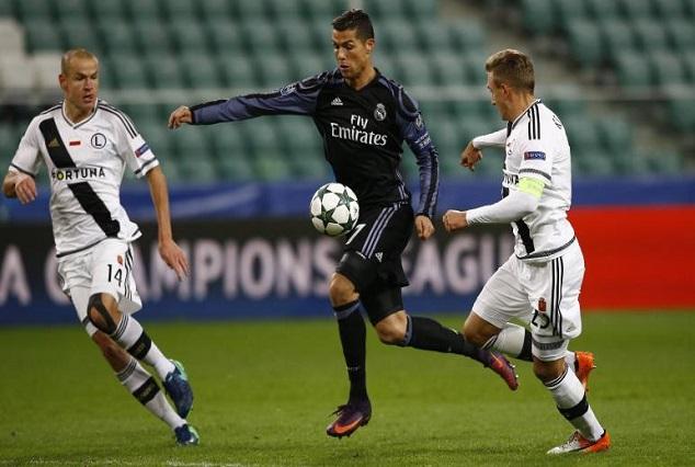 Madrid Held By Legia In A 6 Goal Encounter 1