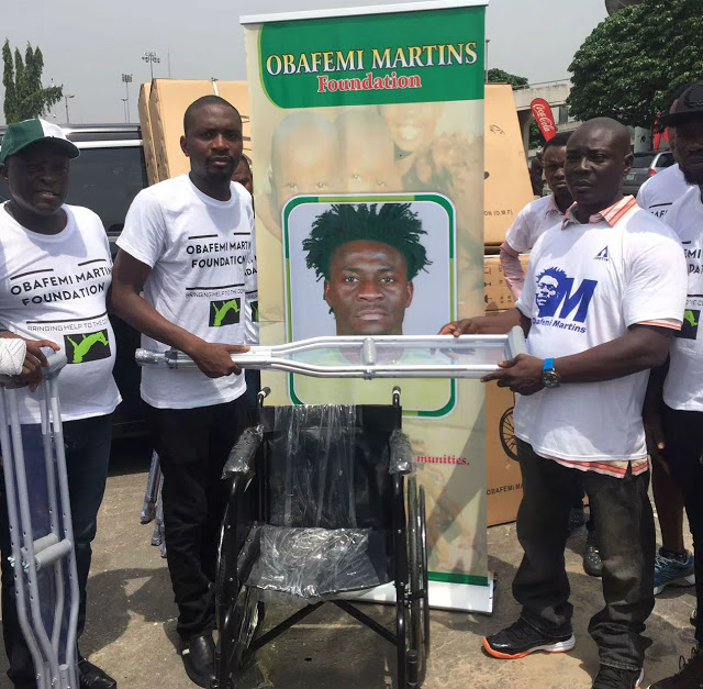 Obafemi Martins Foundation Donates Wheelchairs And Crutches To People With Disabilities. 9