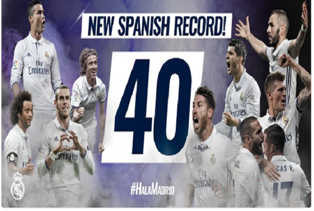 Real Madrid Stretched Their Unbeaten Run To 40 Games 1