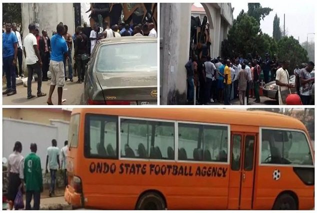 Show Of Shame! Sunshine FC Shutdown Government House Over Unpaid Salaries ! 1