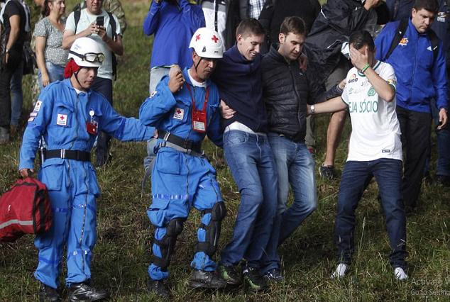 Chapecoense Players Who Survived Devastating Plane Crash Returns To The Site 7
