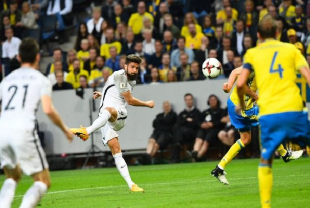 Oh My God ! What A Wonderful Goal ! Watch Giroud Stunner For France Against Sweden 1