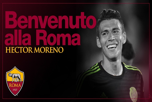 Official : PSV Defender Hector Moreno Sign Four-Year Deal With AS Roma 1