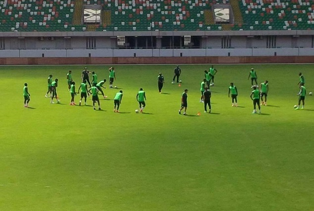 Gernot Rohr Intensifies Eagle's Training For Saturday Clash Against South Africa 3