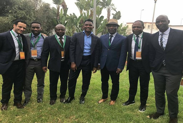 Okocha, Eto'o Led Other African Football Legends To Morocco For CAF Symposium 1
