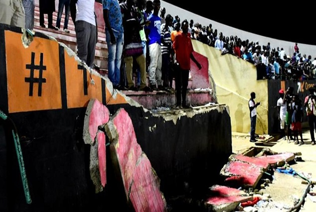 Tragic ! Eight Football Fans Die As Wall Collapses At Demba Diop Stadium In Dakar 1