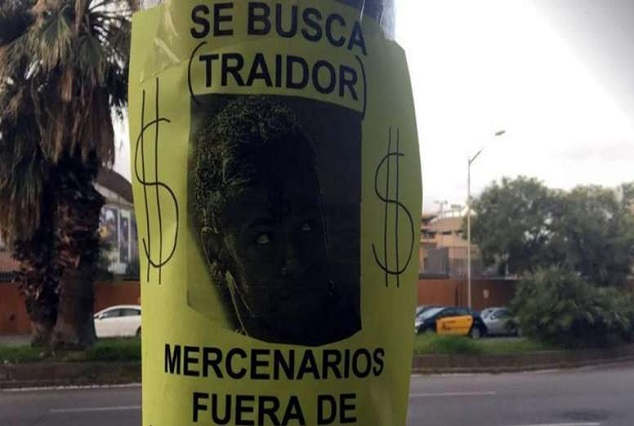 He's A Judas ! Incensed Barcelona Fans Lose It: Posters Against 'Traitor' Neymar At The Camp Nou 1