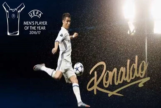 Ronaldo Named UEFA Player Of The Year For The Third Time 1