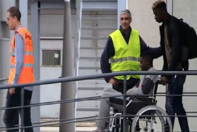 """Dembele In Wheelchair Meets """" Miracle Surgery Specialist"""" 3"""