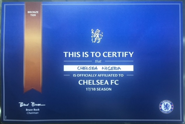 "Chelsea FC Certify ""Chelsea Nigeria"" As Its Affiliate Supporters Club 3"