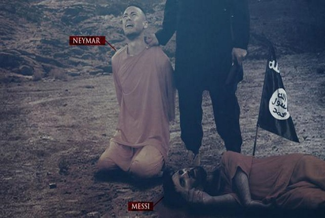 Fresh Threat! ISIS Release Another Macabre Image Of Messi & Neymar 1