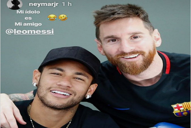 "Neymar Could Not Hide His Excitement Upon Messi Reunion ""My Idol Is My Friend"" 1"