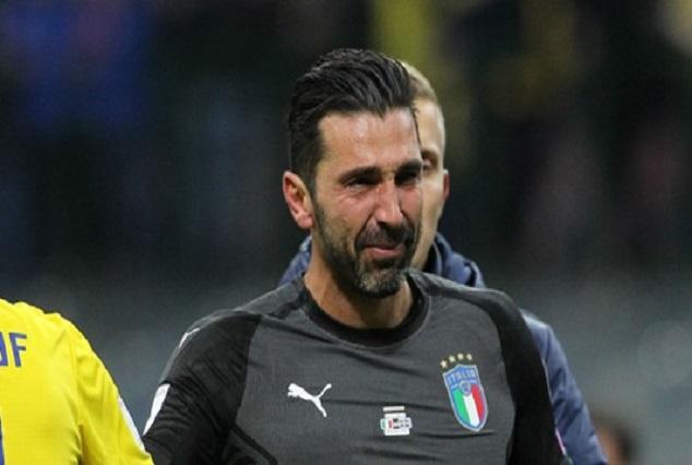 Buffon Cries ! Bids Italy Farewell 1