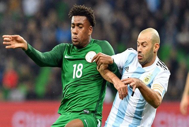 Argentina vs Nigeria : Iwobi Settle Super Eagles Nerves With A Brace To Sink Argentina 1
