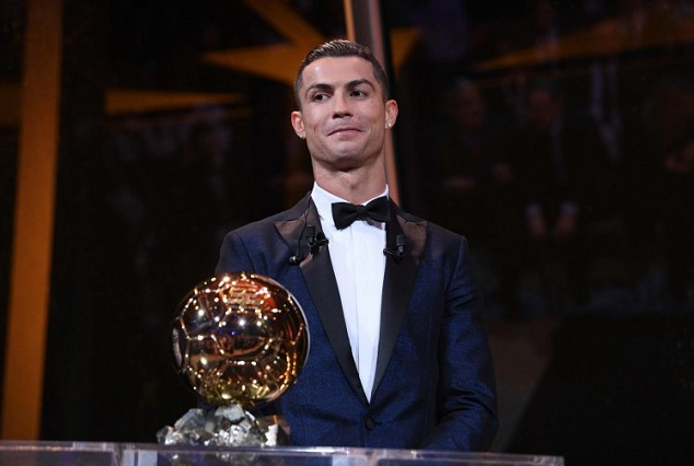 Ballon d'Or 2017 : CR7 Claims Historic Fifth Award To Equal Lionel Messi's Record 1