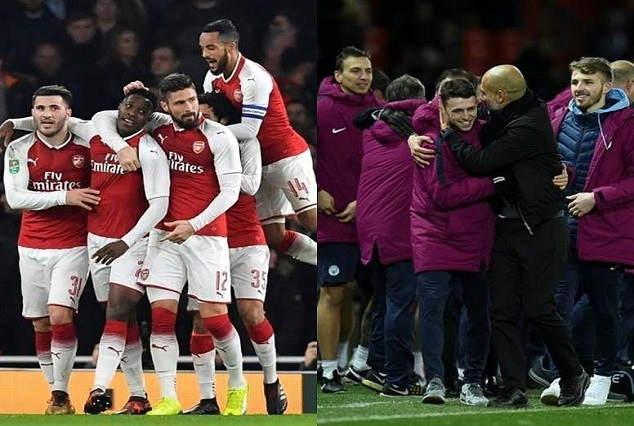 Arsenal, Man City Edge Through To Carabao Cup Semi-Finals With A Scrappy Win 1