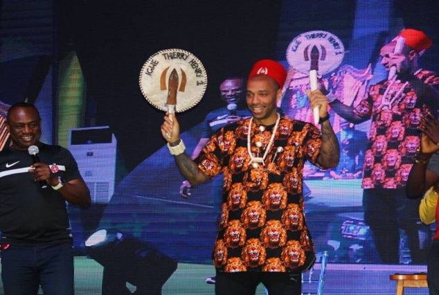 Arsenal Legend Thierry Henry Crowned Igwe In Nigeria, Unveiled As Guinness Ambassador 5