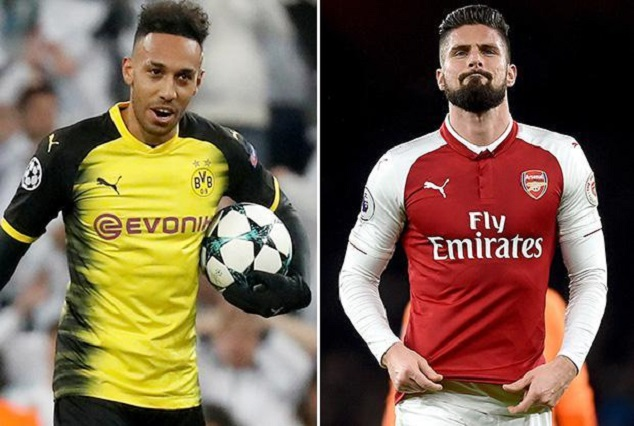 Arsenal Ups £60m For Aubameyang As Chelsea Moves Close On £35m Giroud 1