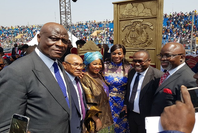 Ahmad, Kwesi Nyantakyi, Amaju Pinnick And Other Top Dignitaries Attend Weah's Inauguration 7