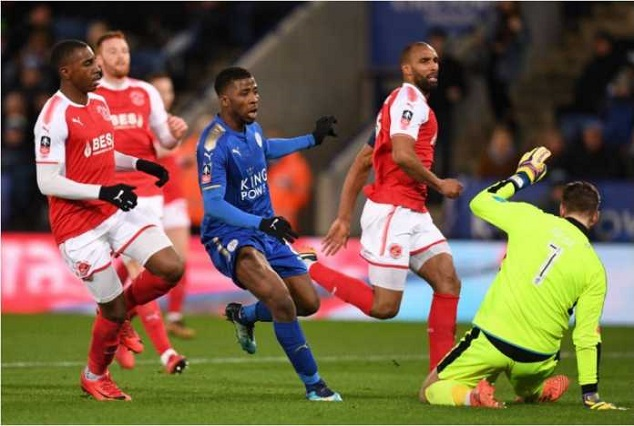 Kelechi Iheanacho Makes VAR History, Scores Brace To Seal Leicester Qualification 1