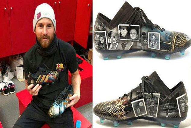 Stroke of Genius : Lili Cantero With A 'Da Vinci' Touch On Lionel Messi's New Boots 9