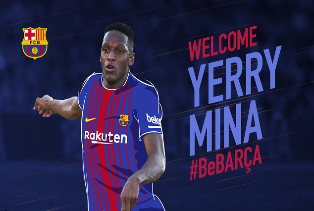 Official! FC Barcelona Secure The Signing Of Yerry Mina For A Reported Fee Of £10.5million 1