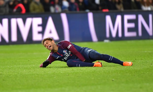 Expensive Injury : Neymar Stretchered Off In Tears And Could Miss Madrid Clash 1