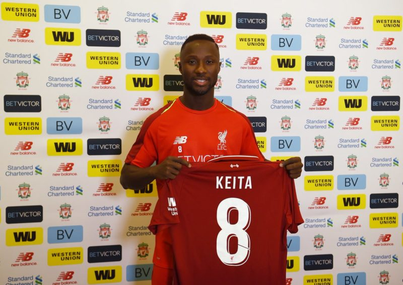 Official: Naby Keita Mark His Arrivial With Famous Gerrard No 8 Jersey 3