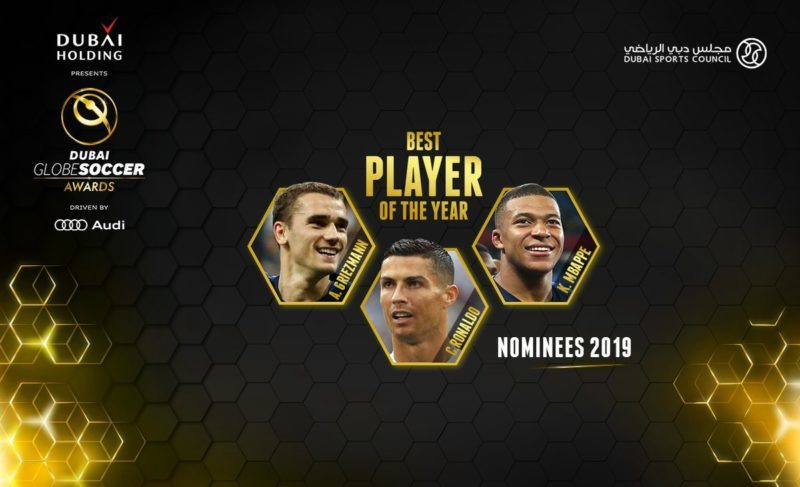 Globe Soccer Award : Griezmann, Ronaldo & Mbappé Selected For Best Player Of The Year 1