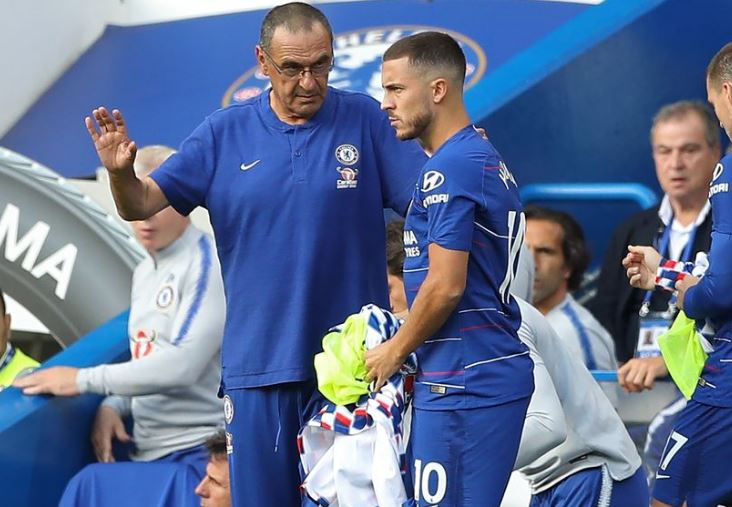 Eden Hazard Playing As A Striker Helps Chelsea Defensively - Sarri 1