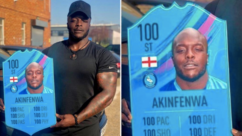 Adebayo Akinfenwa Gets 100-Rated FUT Card